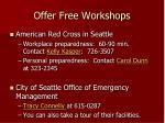 offer free workshops