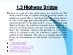 1 3 highway bridge