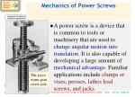 mechanics of power screws