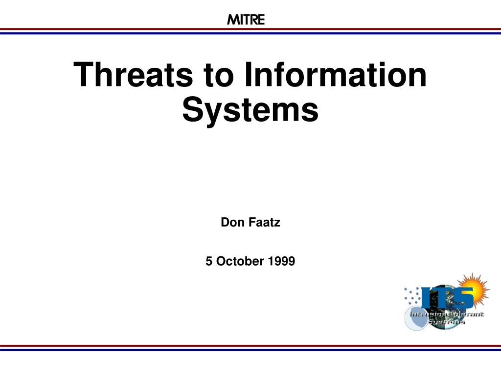 threats to information systems l.