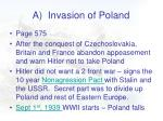 a invasion of poland