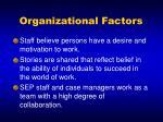 organizational factors16