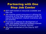 partnering with one stop job center