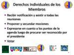 derechos individuales de los miembros