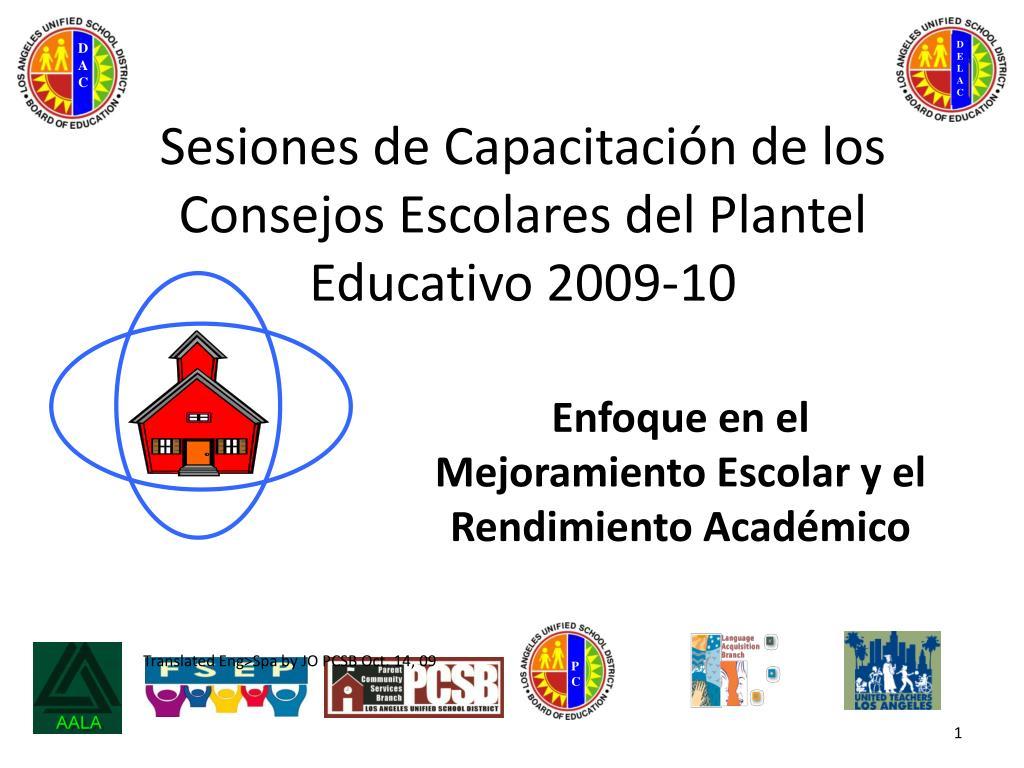 sesiones de capacitaci n de los consejos escolares del plantel educativo 2009 10 l.