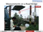 measurements on a road bridge46