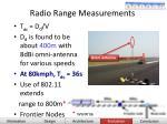 radio range measurements29
