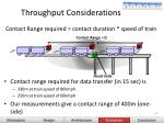 throughput considerations