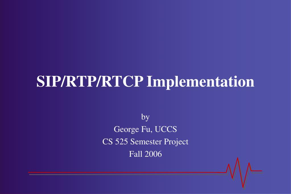 sip rtp rtcp implementation l.