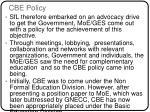 cbe policy