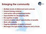 enlarging the community