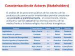 caracterizaci n de actores stakeholders