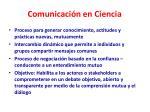 comunicaci n en ciencia