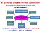 necesidad real de mejorar el sector agr cola diferentes opciones