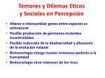 temores y dilemas eticos y sociales en percepci n