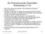 zur finanzierung der industriellen entwicklung in f 4