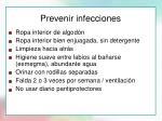 prevenir infecciones