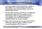 10 2 2 evolution of wdm networks26