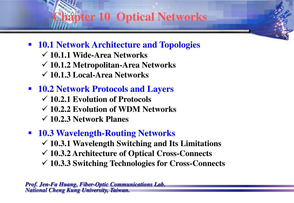 chapter 10 optical networks l.