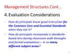 management structures cont