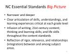 nc essential standards big picture