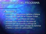 desarrollo del programa 4