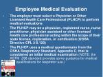 employee medical evaluation
