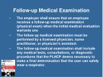 follow up medical examination