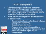 h1n1 symptoms