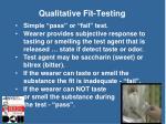 qualitative fit testing