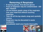 removing a respirator