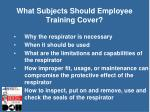 what subjects should employee training cover