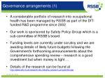 governance arrangements 1