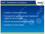 t662 development of guidance