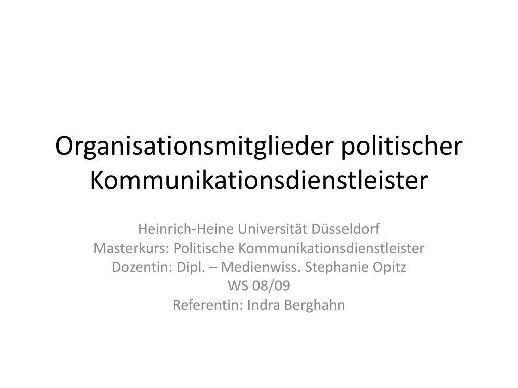 organisationsmitglieder politischer kommunikationsdienstleister l.