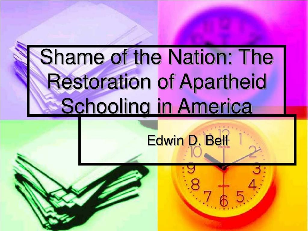 shame of the nation the restoration of apartheid schooling in america l.