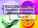shame of the nation the restoration of apartheid schooling in america