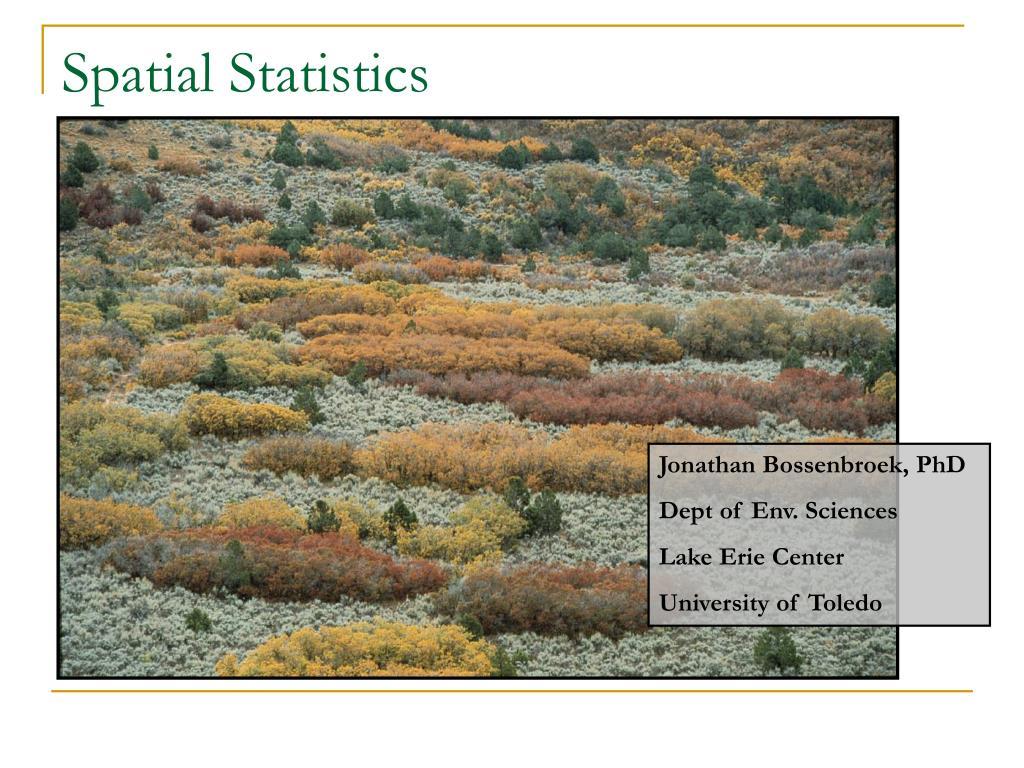spatial statistics l.
