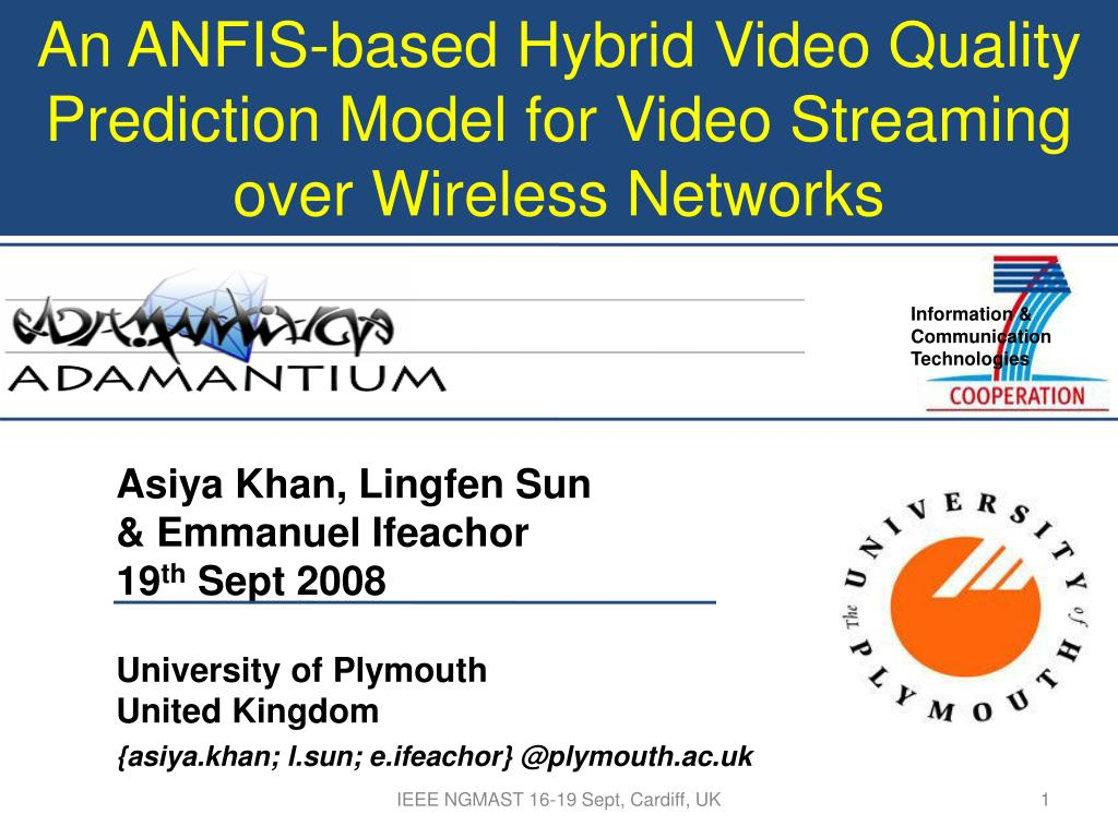 an anfis based hybrid video quality prediction model for video streaming over wireless networks l.