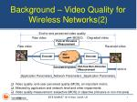 background video quality for wireless networks 2