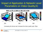 impact of application network level parameters on video quality 4