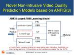novel non intrusive video quality prediction models based on anfis 3