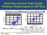 novel non intrusive video quality prediction models based on anfis 4