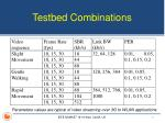 testbed combinations
