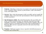 asset backed securities terminology10