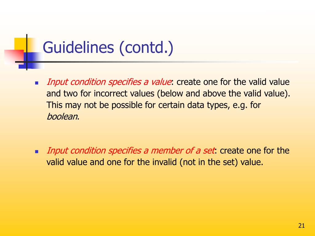 Guidelines (contd.)