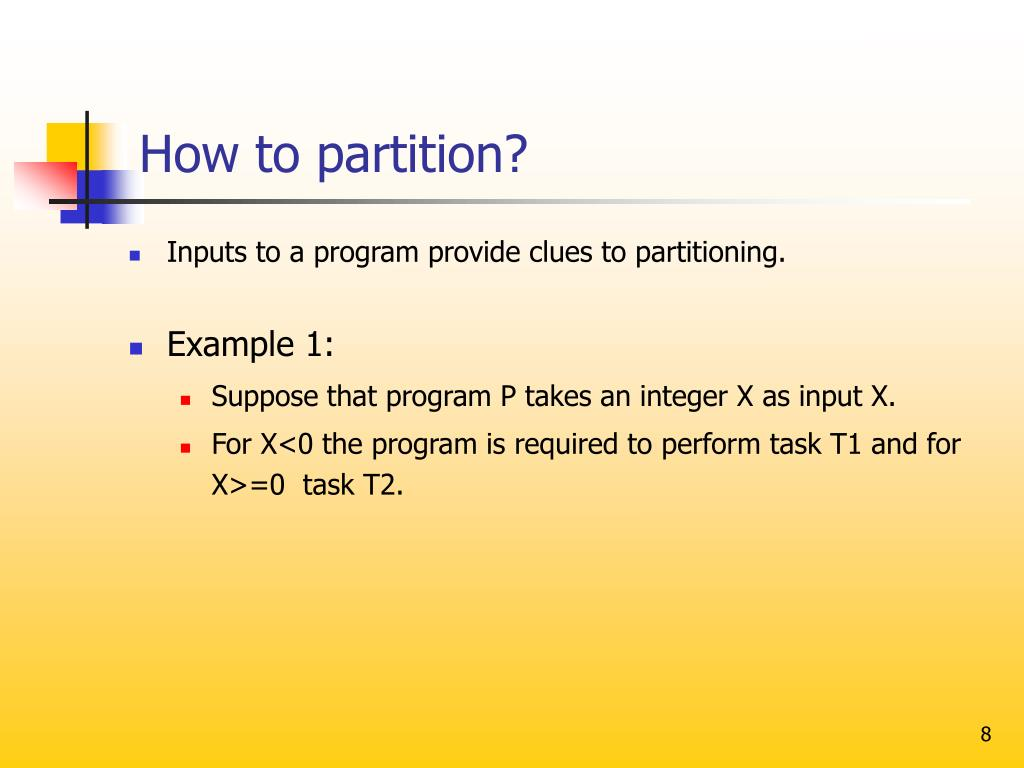 How to partition?