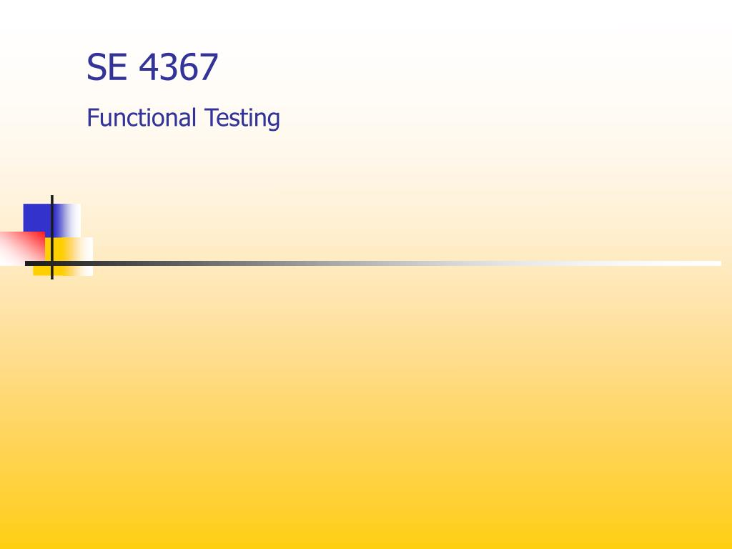 se 4367 functional testing l.