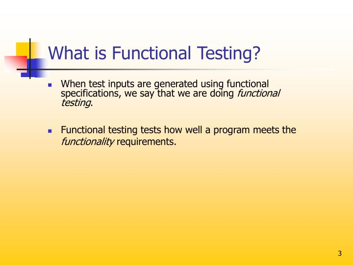 What is functional testing