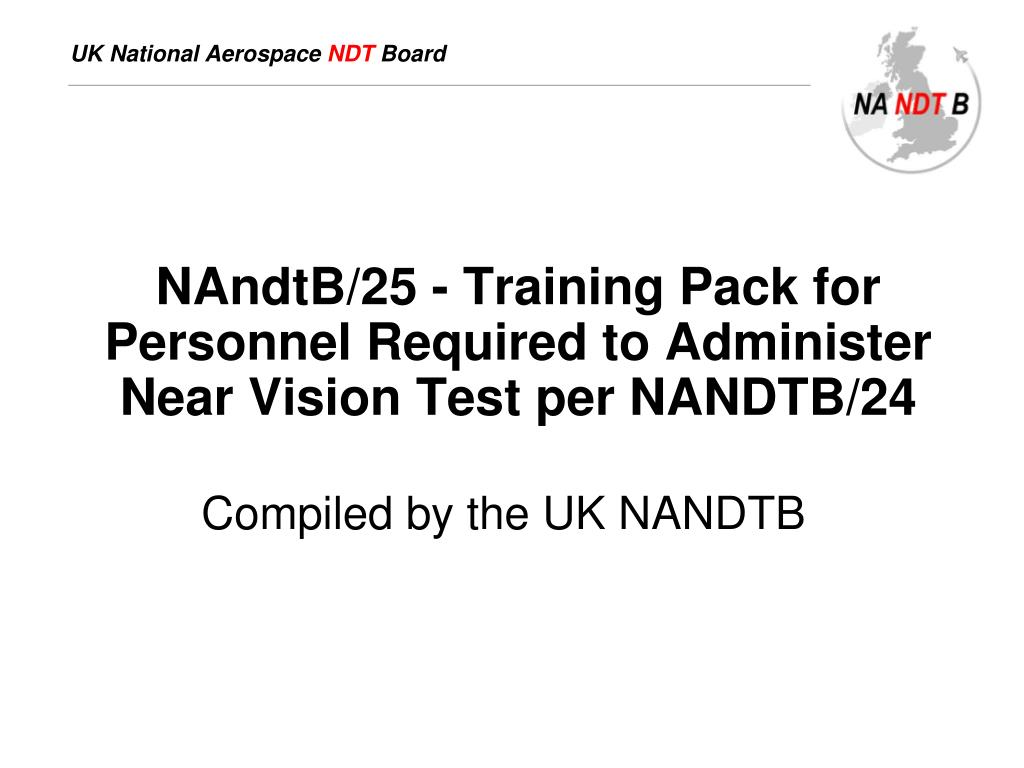 nandtb 25 training pack for personnel required to administer near vision test per nandtb 24 l.